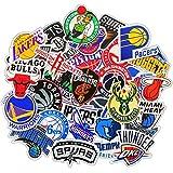 HONGC Pegatinas de Maleta con Logotipo de Baloncesto, Pegatinas para Maleta de Ordenador, monopatín de Guitarra, 30 Piezas