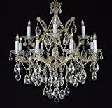 "Maria Theresa Crystal Chandelier Lighting Chandeliers Dressed with Diamond Cut Crystal! H 30"" W 28"""