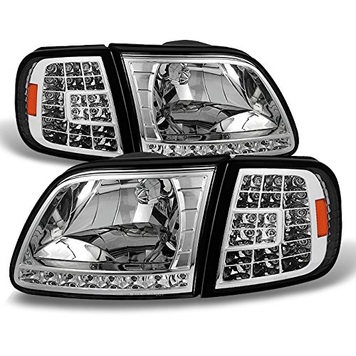 For Ford F150 F250 Light Duty Heritage Expedition OE Replacement LED Headlights Corner Lamps LH/RH