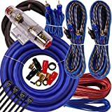 Complete 5 Channels 2500W Gravity 4 Gauge Amplifier Installation Wiring Kit Amp Pk2 4 Ga Blue - for Installer and DIY Hobbyist - Perfect for Car/Truck/Motorcycle/Rv/ATV