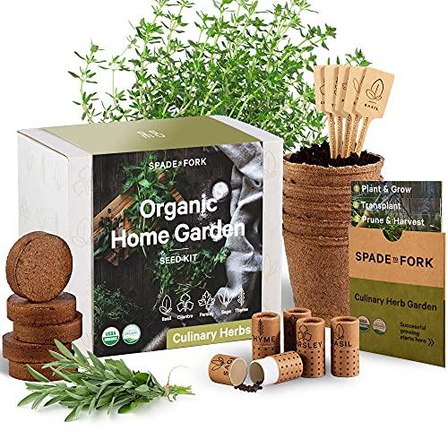 Indoor Herb Garden Starter Kit - Certified USDA Organic Non GMO - 5...