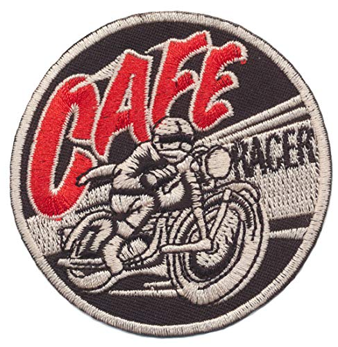 Parches - Cafe Racer - MusicParches - Rock - Chaleco - Parche Termoadhesivos Bordado Apliques - Patch - Give Away Regalar