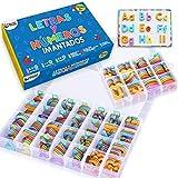 Letras y Números Magnéticos para Niños - Conjunto Completo: 182 Letras y 81 Números y Símbolos...