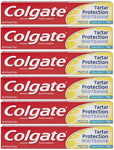Colgate Tartar Protection Toothpaste with Whitening, Mint - 6 ounce (6 Pack)