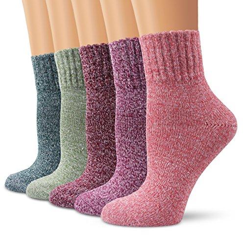 Moliker Calze di lana, Calze da donna Calze invernali Vintage Morbido Calzini caldi Per inverno