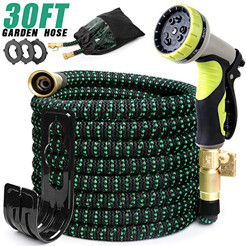 EASYHOSE 30FT Expandable Garden Hose, Kink Free Water Hoses with 9 Functions Nozzle, Flexible Hose Outdoor Yard Hose Lightweight Expanding Garden Hoses