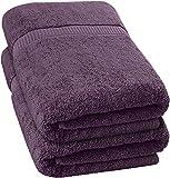 Utopia Towels - 2 Serviette de Bains, Drap de Bains (90 x 180 cm) (Prune, 2)