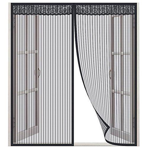 Lictin Zanzariera Magnetica per Finestra - Dimensioni 130 x 150CM, Adatto per Finestra da 130 cm - Rete di Qualità Eccellente, Nero