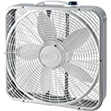 Lasko 20 inch Power Plus Box Fan, Gray