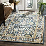 Safavieh Antiquities Collection AT64B Handmade Traditional Dark Blue and Multi Area Rug (3' x 5')