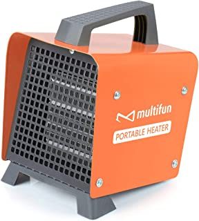 Electric Heater, 1500W Portable Ceramic Space Heater w/Adjustable Thermostat, Space..