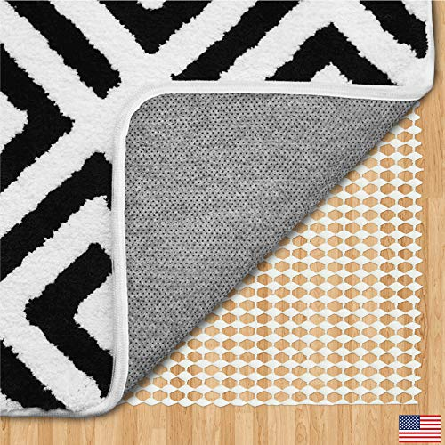Gorilla Grip Original Area Rug Gripper Pad, Made in USA, Extra Thick Pads for Hardwood Floors in...