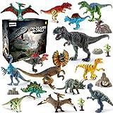 BeebeeRun Dinosaure Jouet 21pcs Plastique Dinosaure Chiffres Educatif Jouets...