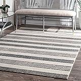 nuLOOM Vernazza Striped Area Rug, 4' x 6', Grey