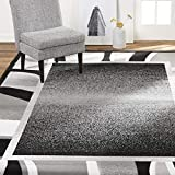 Home Dynamix Lyndhurst Rotana Modern Area Rug, Contemporary Black/Gray 7'8'x10'7'
