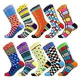 BISOUSOX Chaussettes Homme Fantaisie Chaussettes de Mode Classique, Multicolore Socks Chaussettes à Motifs Drôles Confortable et Respirant Cadeau pour Amis/Festival 39-46