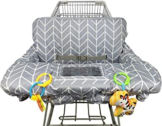 Shopping Cart Cover for Baby Cotton High Chair Cover, Reversible, Machine Washable for..