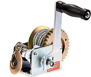 SoB 600lbs Capacity Heavy Duty Hand Winch, Hand Crank Strap Gear Winch with 8m Steel..