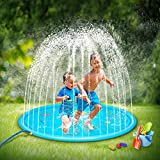 SOOPOTAY Baby Splash Pad for Kids Toddlers 68', Kid Sprinkler Mat Water Toys (Blue)