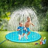 SOOPOTAY Baby Splash Pad for Kids Toddlers 68', Kid Sprinkler Mat Water Toys (Blue)