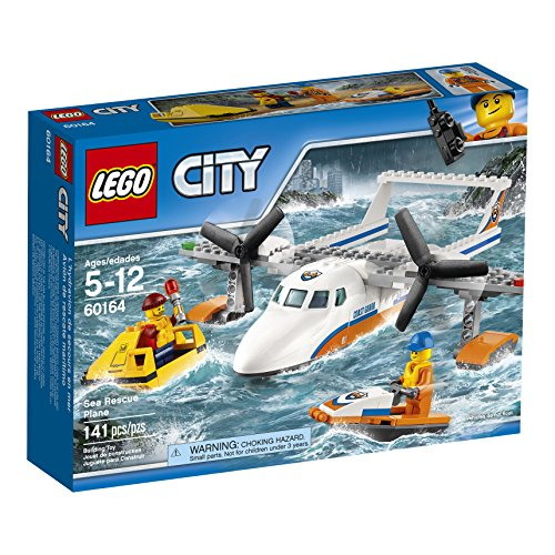 LEGO City Coast Guard Sea Rescue Plane 60164 Building Kit (141 Piece)