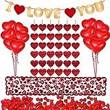 Kit de décorations de la Saint-Valentin 1000 pièces pétales de rose rouge 10...