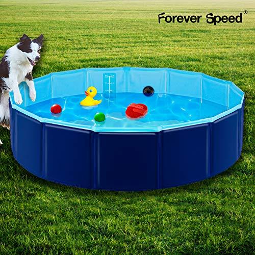 Forever Speed Hundepool,Doggy Pool,Katzenpool,Faltbares Pool,Kinderbadewann,Umweltfreundliche PVC/rutschfest/Gut Abgedichtet-Haustiere/Geschenke der Kinder Dunkelblau 120 * 30CM