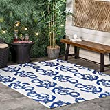 nuLOOM Rell Nautical Anchor Indoor/Outdoor Area Rug, 9' x 12', Blue
