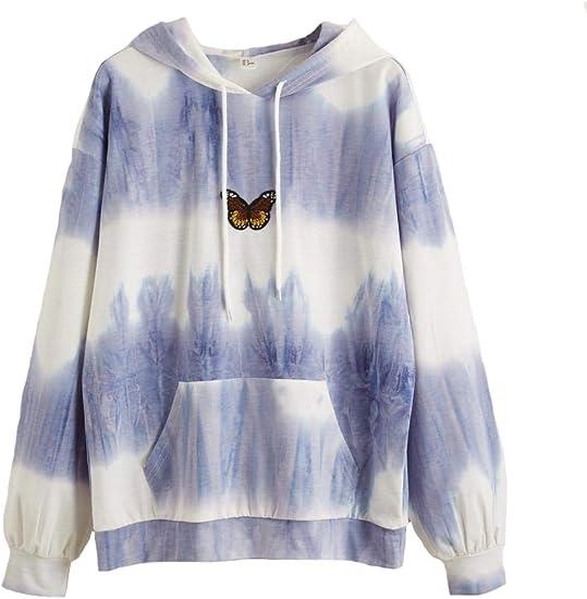 purple blue white dip dye butterfly sweater Bella