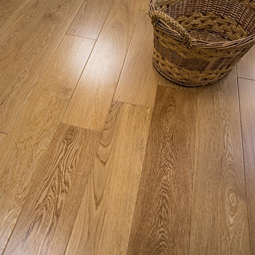 White Oak w/4mm Wear Layer Prefinished Engineered Wood Flooring 5' x...