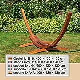 Ampel 24 XL Outdoor Hängemattengestell 400 cm Holz sibirische Lärche wetterfest Gestell Madagaskar braun - 3
