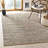 Safavieh Cape Cod Collection CAP305M Hand-woven Area Rug, 3' x 5', Blue/Natural