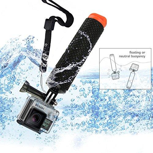 micros2u Maniglia galleggiante per immersione impermeabile (Floaty). Compatibile con impugnatura per GoPro Hero8 Hero 8 7 6 5 4 Akaso Crosstour Campark Fitfort VIRB Apeman Sony Victure Kitvision