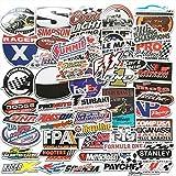BLOUR AQK 50 Uds F1 Pegatinas de Coche de Carreras para DIY Pegatina de Estilo de Coche Motocross Casco de Carreras monopatín Equipaje portátil Fórmula uno calcomanía