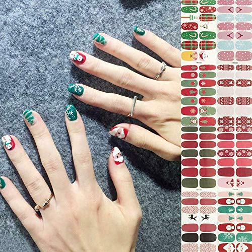 12 set color street nail stripscFather Christmas Father Christmas Brighter, Thicker, Tougher