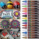 DealKits 16 Colors Paint Marker Pens for Rock Painting [Oil-Based]...