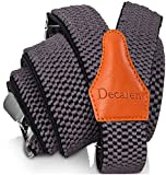 Decalen Bretelles Homme Larges Réglable Élastique Extra Fort 3 Clips en forme...