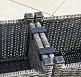 Greemotion Miami Comfort 5-teilig Rattan Lounge-Set, Aluminium - 2