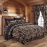 Regal Comfort Black Full/Queen 3 Piece Comforter Set (1 Comforter and 2 Pillow Cases)