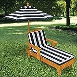KidKraft 105 Outdoor Lounge Sonnenliege aus Holz mit Sonnenschirm – Gartenmöbel für Kinder - 3