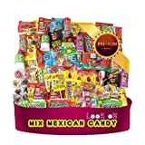 """Mexican Candy Mix Assortment of (90 Count) """"La Dulceria Mexicana"""" Premium Candies of Spicy, Sour & Sweet; Includes Lucas Candy, Pulparindo, Pelon, Rebandita, by Look-On"""