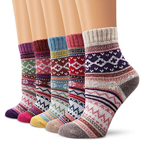 calze di lana, Moliker donne calzini inverno caldo morbido annata per l'inverno (5005)