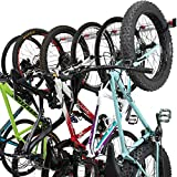 PRO BIKE TOOL Bike Wall Rack - 6 Bikes Version - Adjustable Indoor Bicycle Storage Mount for Garage or Home - Vertical Cycling Hanger - Secure Hook - Holder for Road or Mountain Bicycles