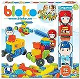 BLOKO - Coffret 50 avec Deux Figurines - Dès 12 Mois - Fabriqué en Europe - Jouet de Construction (Thème Secours)