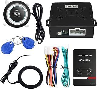 EASYGUARD EC004 Smart RFID Car Alarm System Push Engine Start Button & Keyless Go..