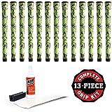 Winn Dritac X Midsize +1/16' Green/Black Golf Grip Kit with Tape Solvent Vise Clamp (13 Piece)