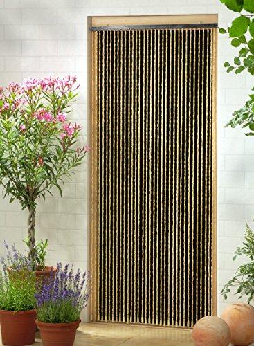 Leguana Handels GmbH Holzperlenvorhang Perlenvorhang Türvorhang \'Sumatra\' ca. 90x200cm (BxH)