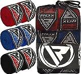 RDX Cinta Boxeo Vendas Mano Muñeca Elástico MMA Envolturas 4,5 Metros Vendaje Kick Boxing (Pack de Tres Pares)