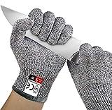 Gants Anti coupures Gants de Travail, Antidérapant Écran Tactile Gants de Protection des Mains, Haute Performance Niveau de Protection 5 Anti-coupure