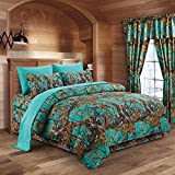 Regal Comfort The Woods Teal Camouflage King 8pc Premium Luxury Comforter, Sheet, Pillowcases, and Bed Skirt Set Camo Bedding Set for Hunters Cabin or Rustic Lodge Teens Boys and Girls